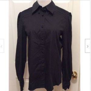 Red Valentino Blouse US 8 Black Solid Button Front